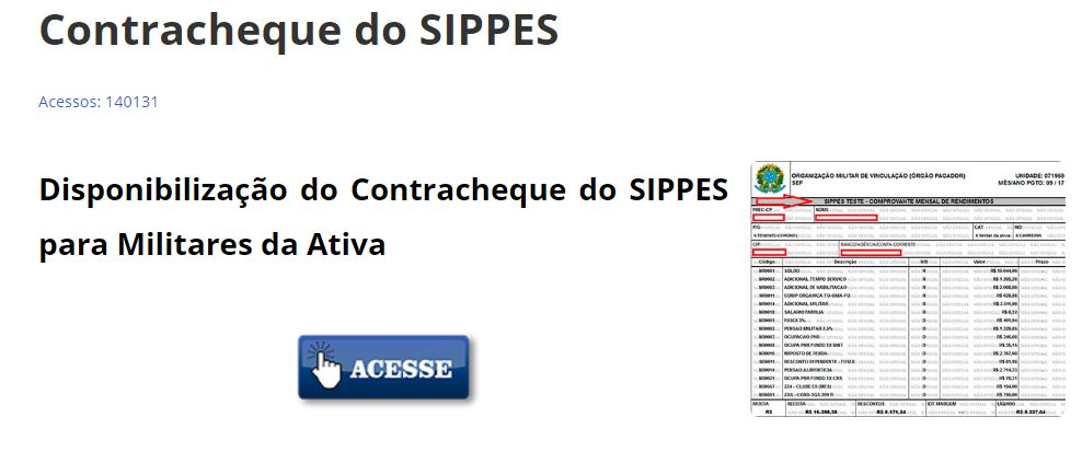 Contracheque do SIPPES