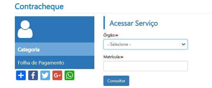 Consulta Contracheque Servidor Bahia