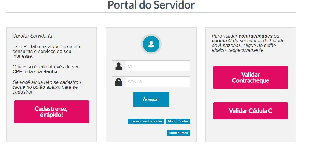 Consulta Online Contracheque Amazonas