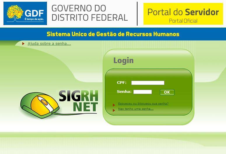 Consulta Portal do Servidor Distrito Federal
